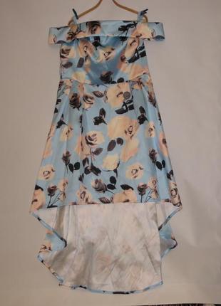 Новое платье на красивые формы на высокую девушку для торжества р.24