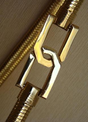 Золотистый ремень-пружина/пояс-пружина