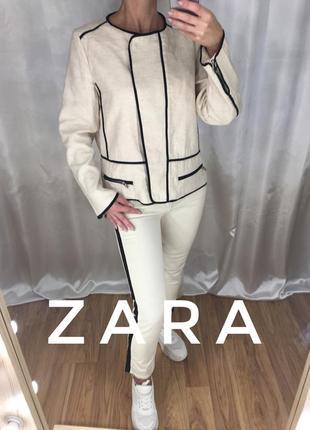 Пиджак косуха лён zara