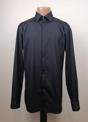 Рубашка hugo boss slim fit stretch приталенная оригинал