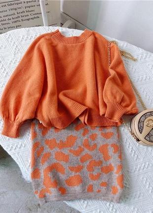Деьский костюм двойка свитер и юбка