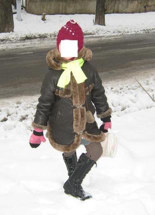 Пальто дубленка на девочку очень хорошее состояние