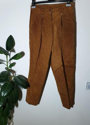 Кожаные штаны брюки натуральная замша joy