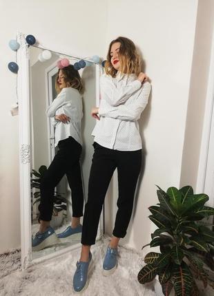 Фирменная шикарная рубашка блуза в горошек montego
