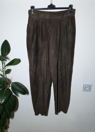 Итальянские кожаные брюки, штаны натуральная замша vera pelle