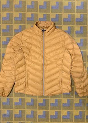 Желтая куртка пуховик marks&spencer!