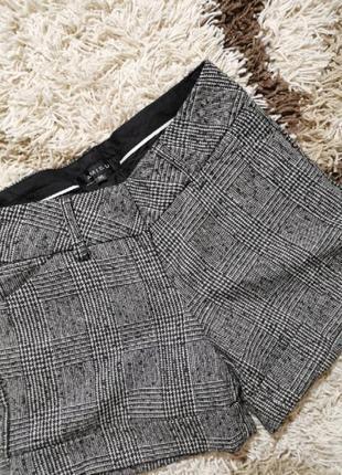 Шерстяные шорты amisu в клетку