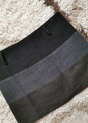 Тёплая юбка зимняя шерстяная