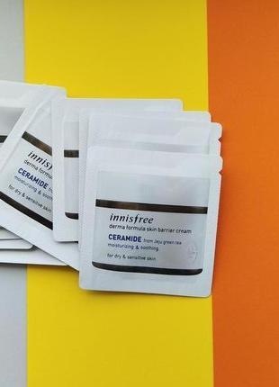 Крем с керамидами innisfree derma formula skin barrier cream пробник