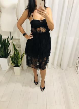 Вечернее платье гипюровое кружево