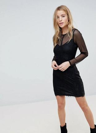 Платье плаття мини коктейльное черное кружевное ажурное качественное новое