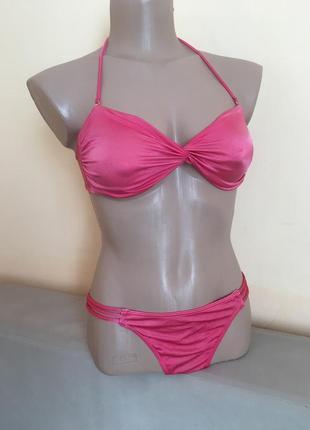 Перламутровий рожевий роздільний купальник