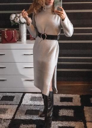 Стильна тепла сукня оверсайз!