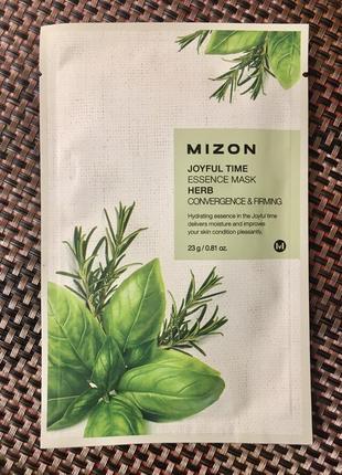Корейская тканевая маска mizon с экстрактом целебных трав