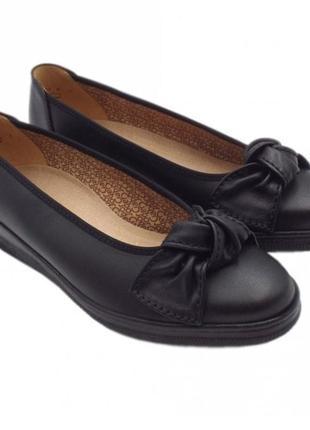Кожаные туфли балетки gabor р 39-39,5 сост новых