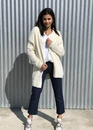 Брендовый бежевый кардиган wardrobe шерсть акрил большой размер этикетка