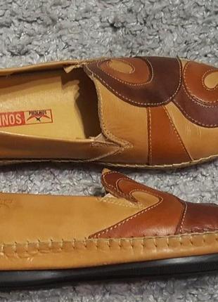 Оригинал.новые,кожаные мокасины-туфли супер комфорт pikolinos