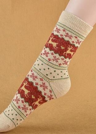 7-36 різдвяні шкарпетки з оленями рождественские новогодние носки с оленями
