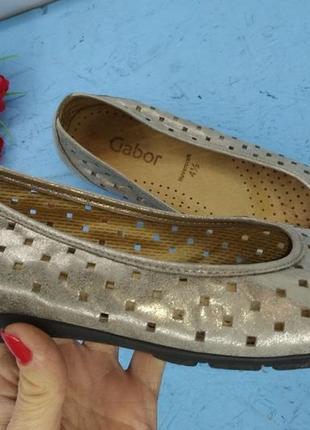 Легенькие кожаные туфли балетки gabor р 37 германия