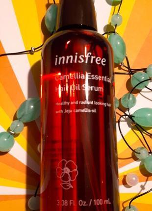 Увлажняющее масло для волос с камелией innisfree camellia essential hair oil serum