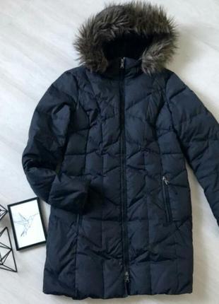 Крутой чёрный пуховик куртка зимняя esprit 50% пух
