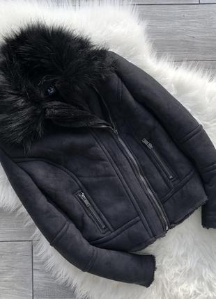 Зимняя дубленка-косуха