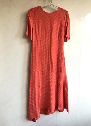 Яркое коралловое платье мили от other stories cos