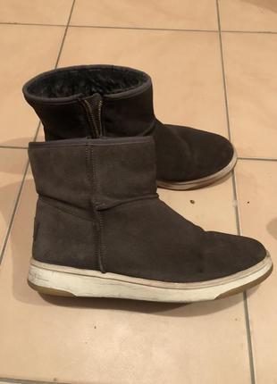 Ботинки замша  26,5 см