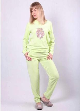Теплая велюровая пижама, домашний костюм