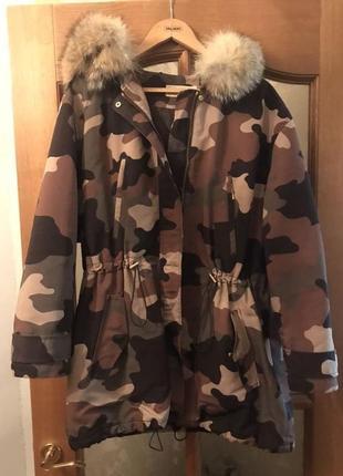 Куртка пуховик майкл корс зимняя michael kors хаки