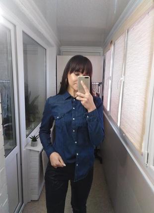 Джинсова сорочка, джинсовая рубашка