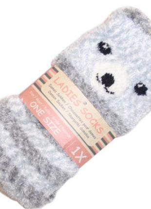 Пушистые мягкие теплые домашние носки с тормозками плюшевые травка нидерланды