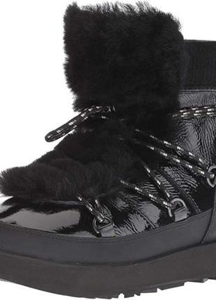 Кожаные зимние ботинки ugg р. 39,5