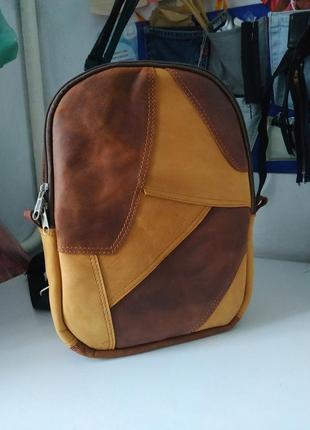 Городской рюкзак ручной работы (натуральная кожа crazy horse)