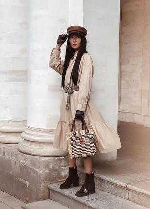 Zara новая коллекция! платье из поплина с воланами