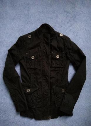 Весняна осіння чорна куртка весенняя осенняя чёрная курточка