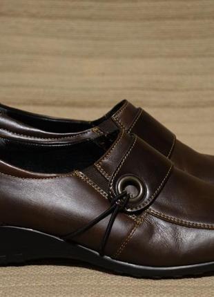 Мягкие темно-коричневые закрытые кожаные туфли dorndorf( remonte) германия 38 р.