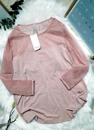 Пудровая блуза stradivarius