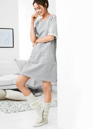 Мега удобное платье на байке для дома от tchibo германия размер 40 евро=46-48