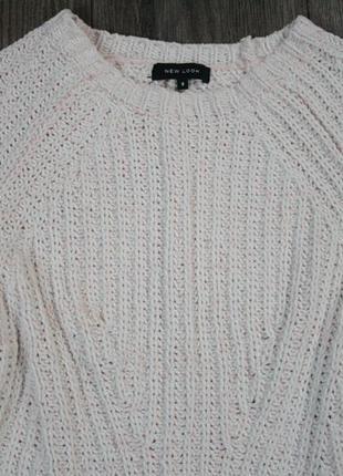 Крутой плюшевый вязаный свитер - s/m