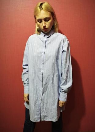 Стильная длинная рубашка