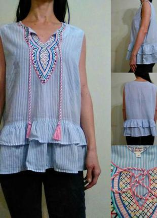 Красивая легкая хлопковая блуза 20