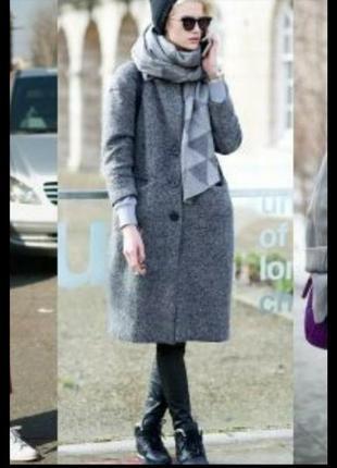 Теплое зимнее кашемировое пальто