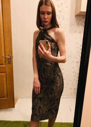 Платье змеиный принт питон h&m