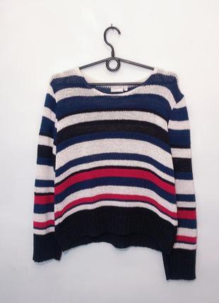 Полосатый акриловый свитер джемпер m