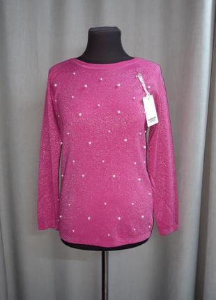 Нарядный свитер с люрексом и жемчугом n.every day
