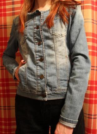 Джинсовый пиджак gloria jeans