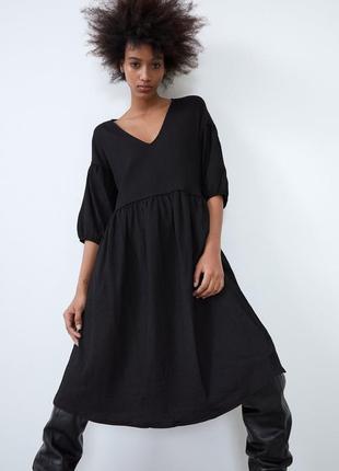 Черное платье zara новое