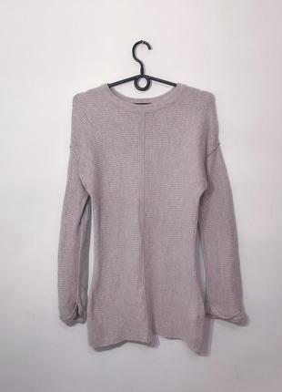 Длинный стильный джемпер свитер xs-s