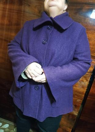 Пальто осеннее весенние демисезонное шерстяное большое широкое